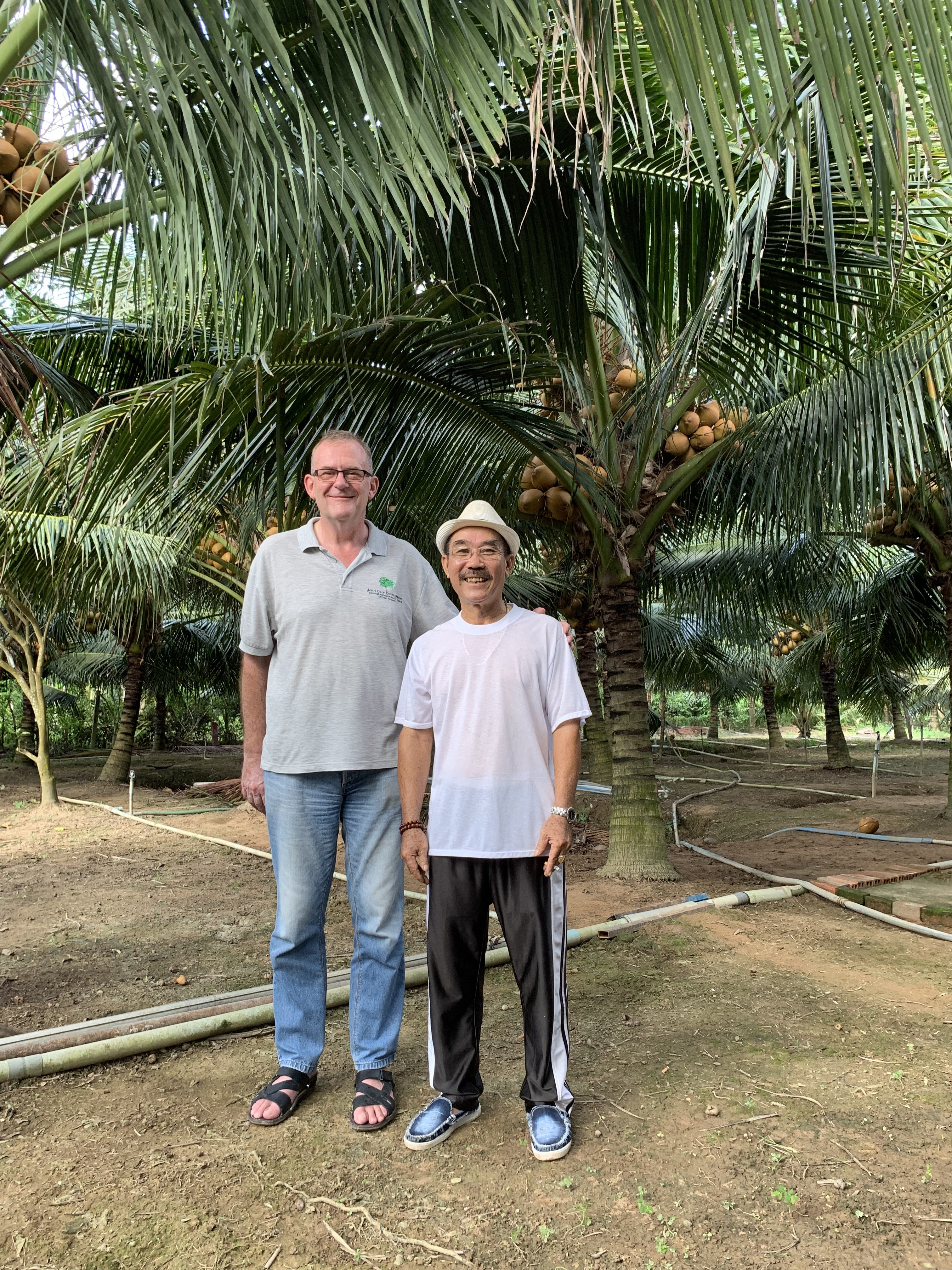 JCD and Mr Nguyen Dinh, one of our growers